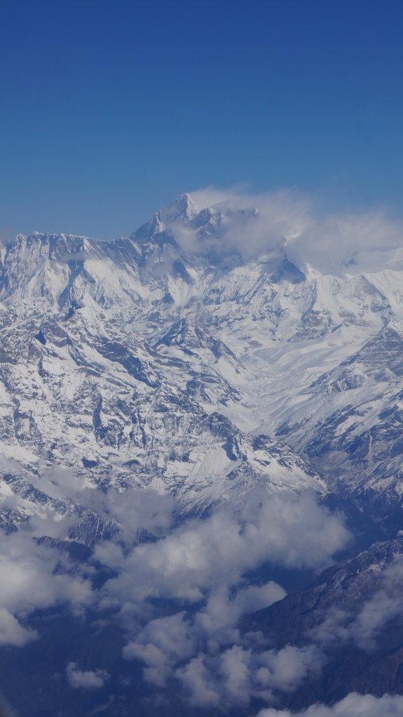 First glimpse of Mount Everest!