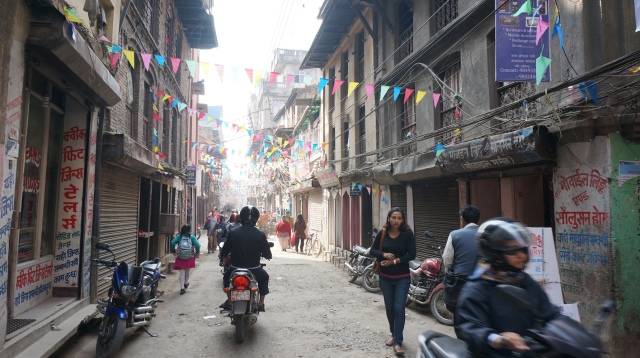Walking south from Thamel