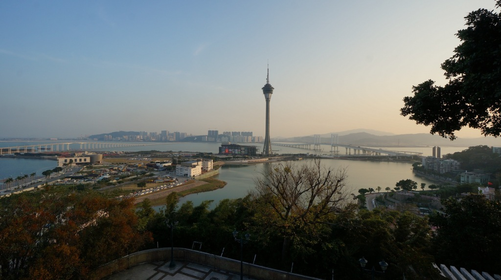 Macau Tower by sunset